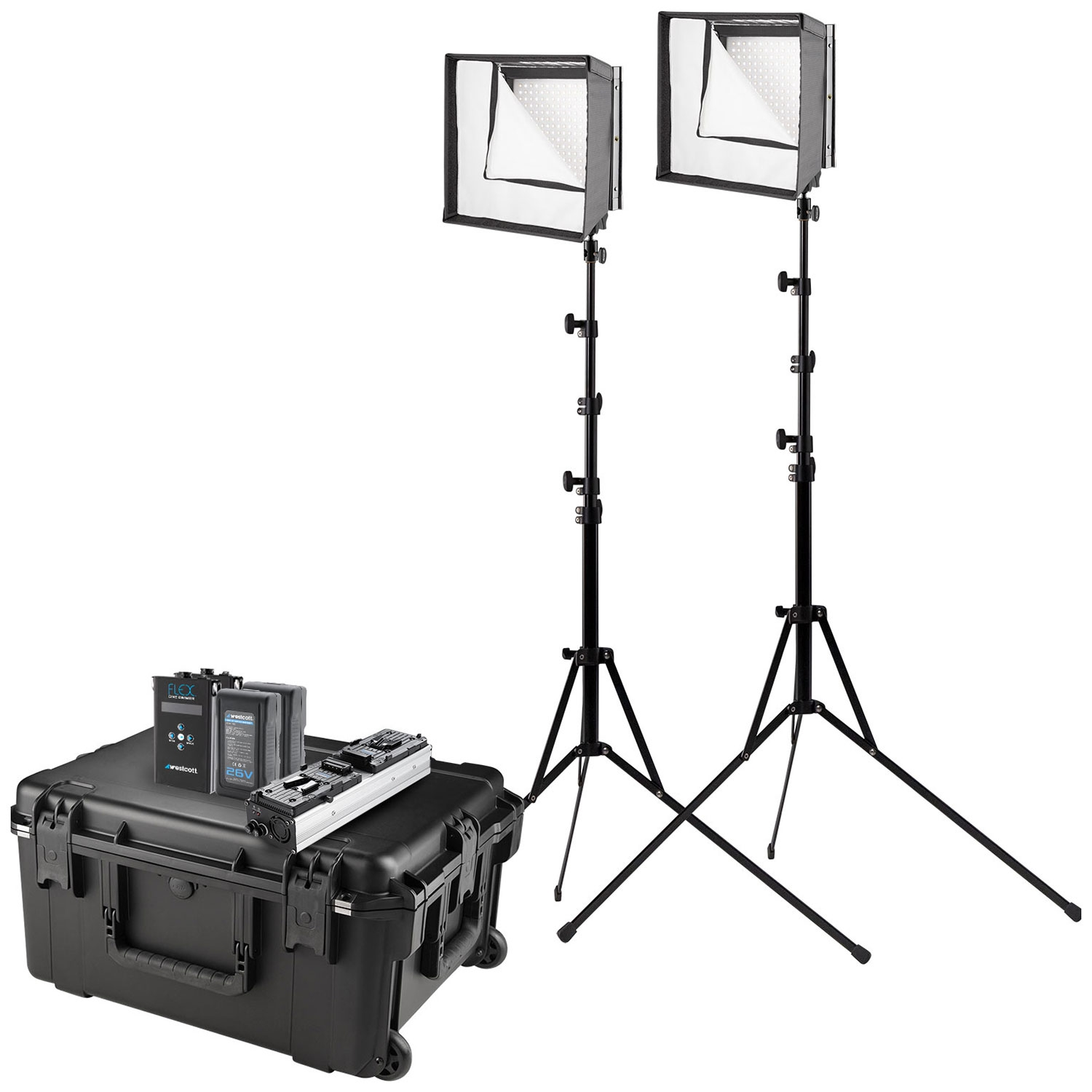 Flex Cine Bi-Color LED 2-Light Travel Kit (US/CA Plug, 1' x 1')