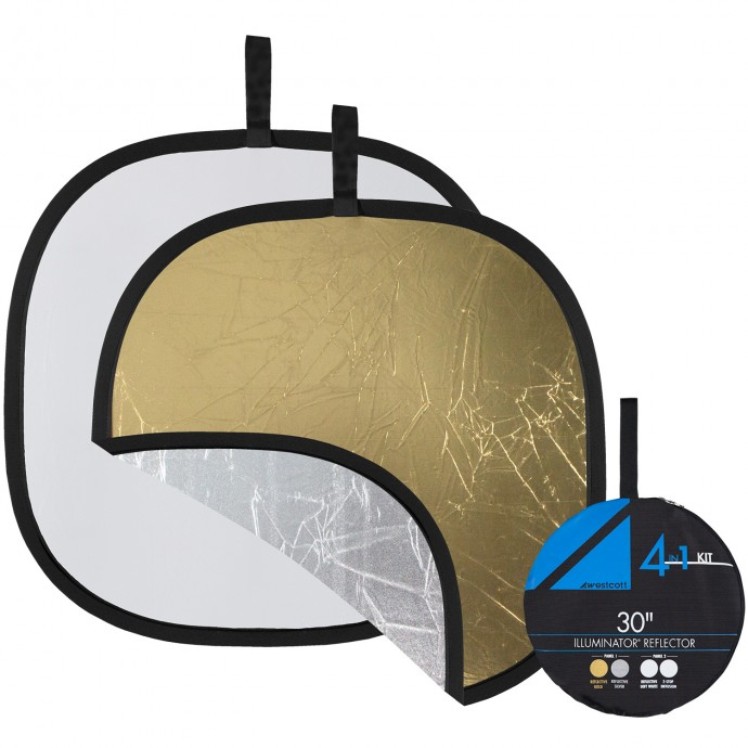 "Illuminator Collapsible 4-in-1 Gold/Silver Reflector Kit (30"")"