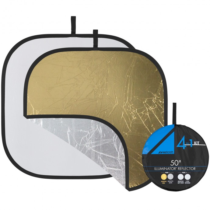 "Illuminator Collapsible 4-in-1 Gold/Silver Reflector Kit (52"")"