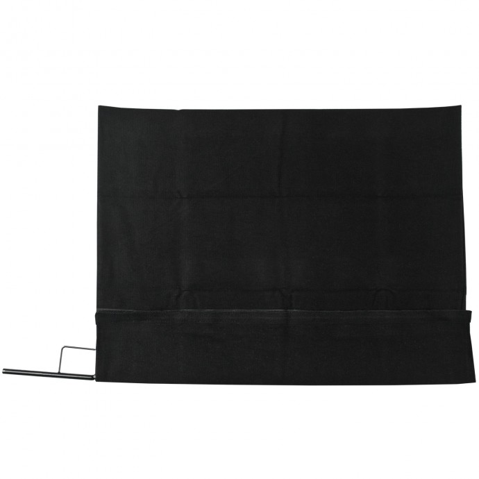 18 inch x 24 inch Black Block Fabric