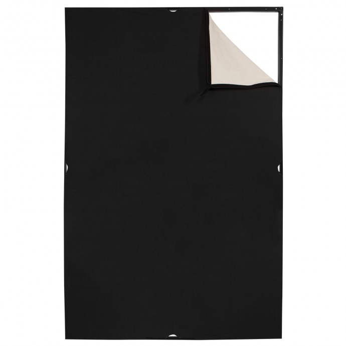 Scrim Jim Cine 4' x 6' Unbleached Muslin/Black Fabric