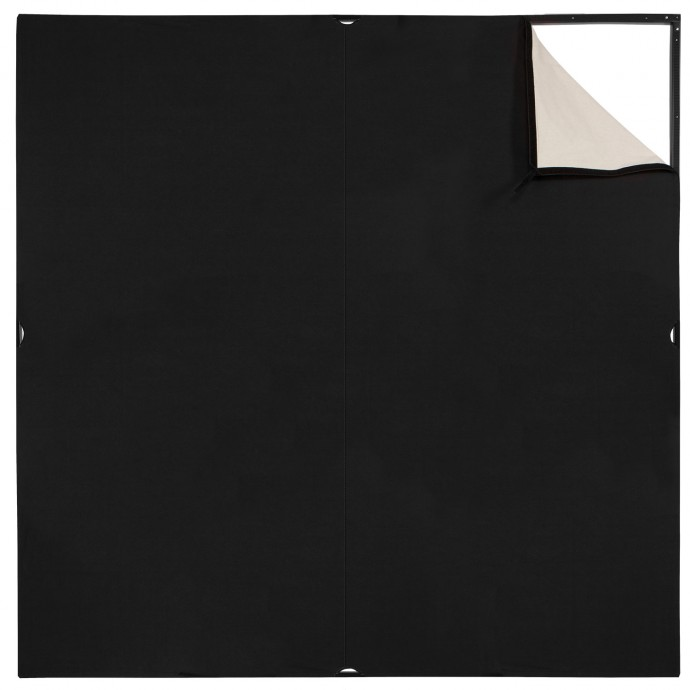 Scrim Jim Cine 6' x 6' Unbleached Muslin/Black Fabric (Scrim Jim)
