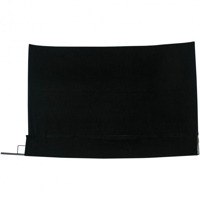 24 inch x 36 inch Black Block Fabric