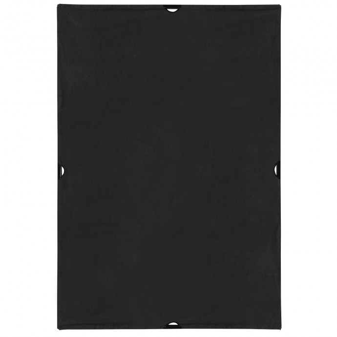 Scrim Jim Cine 4' x 6' Solid Black Block Fabric