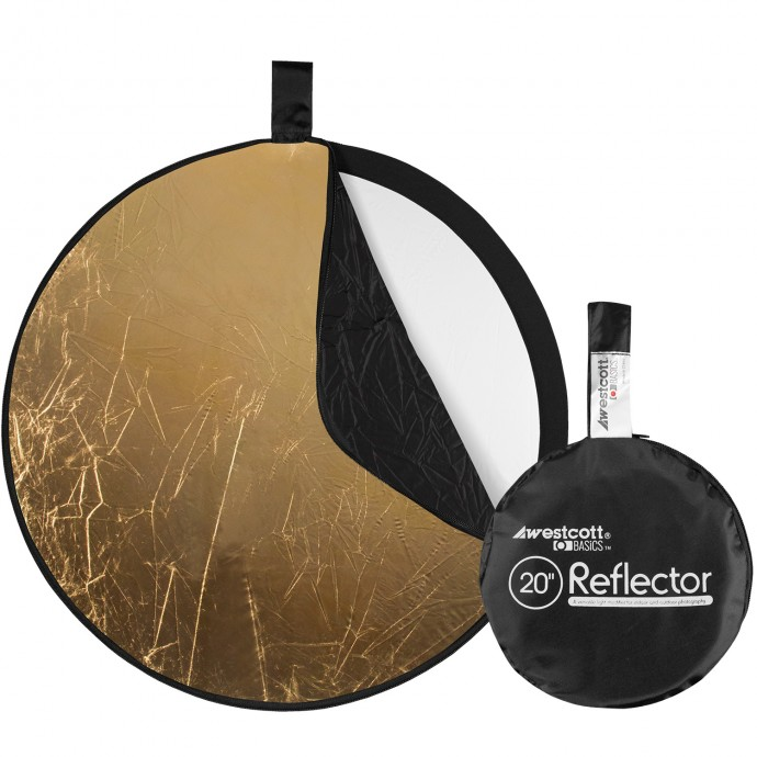 Basics 20-inch 5-in-1 Reflector with Gold, Silver, White, Black, and Diffusion Surfaces