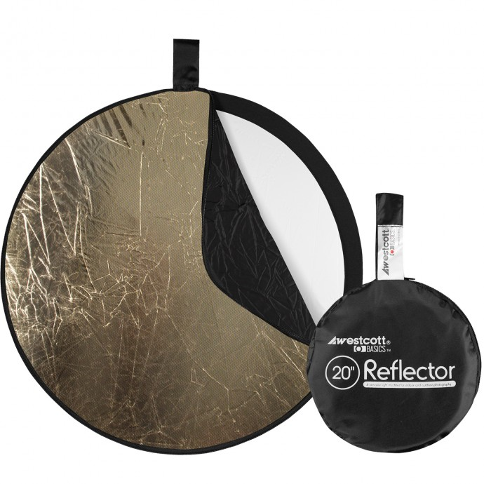 Basics 20-inch 5-in-1 Reflector with Sunlight, Silver, White, Black, and Diffusion Surfaces