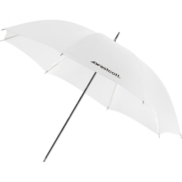 "#2003 - 32"" White Satin Umbrella"