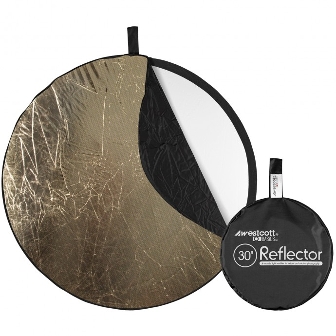 Basics 30-inch 5-in-1 Reflector with Sunlight, Silver, White, Black, and Diffusion Surfaces