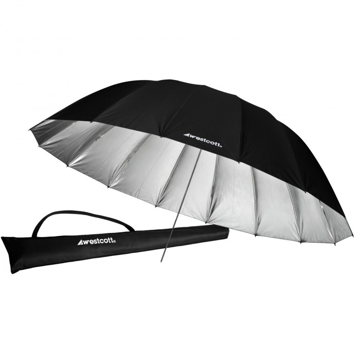 #4633 - 7' Silver Parabolic Umbrella