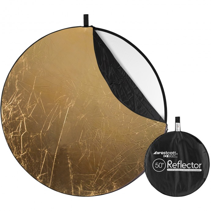 Basics 50-inch 5-in-1 Reflector with Gold, Silver, White, Black, and Diffusion Surfaces