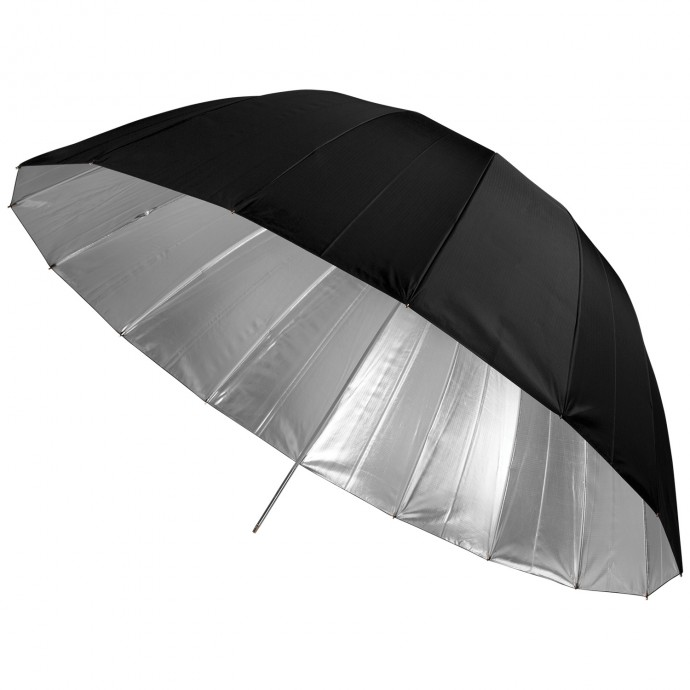 "#5635 - 53"" Apollo Deep Umbrella with Silver Interior"