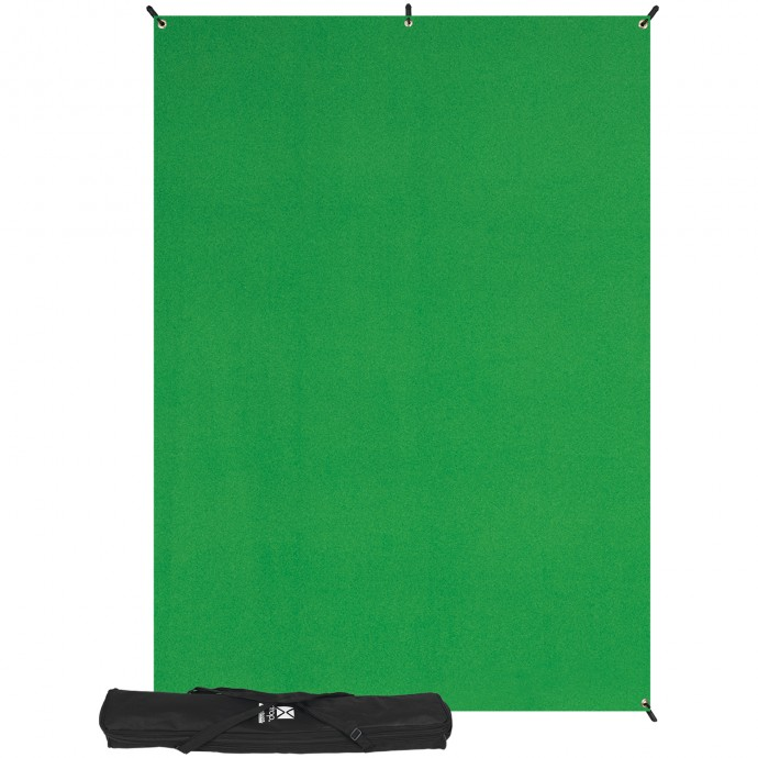 X-Drop Wrinkle-Resistant Backdrop - Chroma-Key Green Kit (5' x 7')