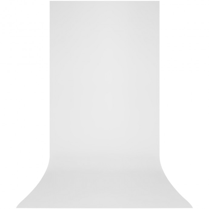 X-Drop 5' x 12' White Matte Vinyl Backdrop