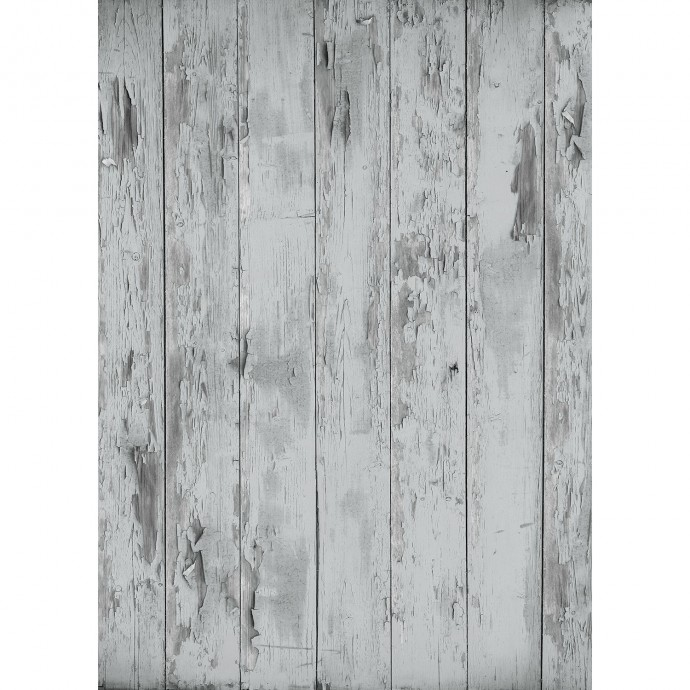 Distressed Wood Matte Vinyl Backdrop (5' x 7') - Rich Gray