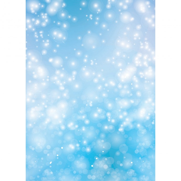 Bokeh Matte Vinyl Backdrop (5' x 7') - Blue