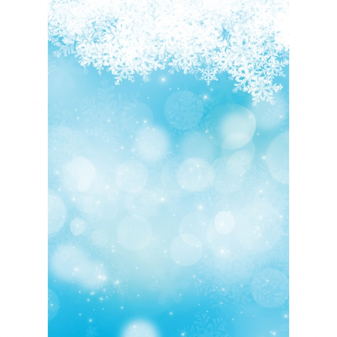 Snowy Bokeh Art Canvas Backdrop (5' x 7') - Blue