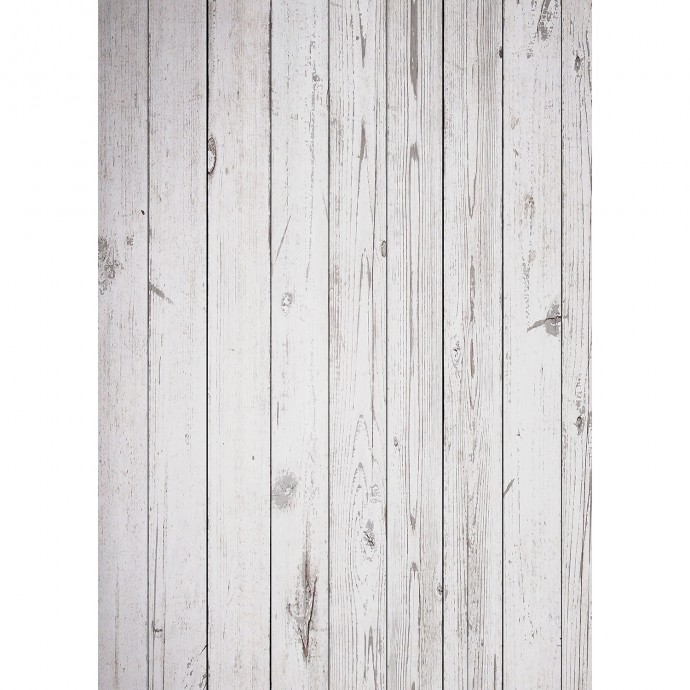 Old Wood Floor Art Canvas Backdrop (5' x 7') - White