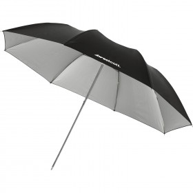 "Compact Collapsible Umbrella - Soft Silver Bounce (43"")"