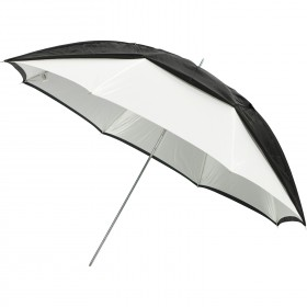 "Convertible Umbrella - Optical White Satin with Removable Black Cover (45"")"