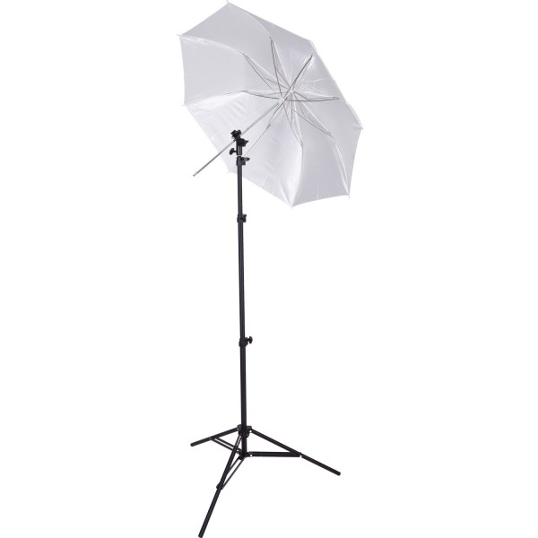 "Compact Collapsible Umbrella Flash Kit - Optical White Satin Diffusion (43"")"