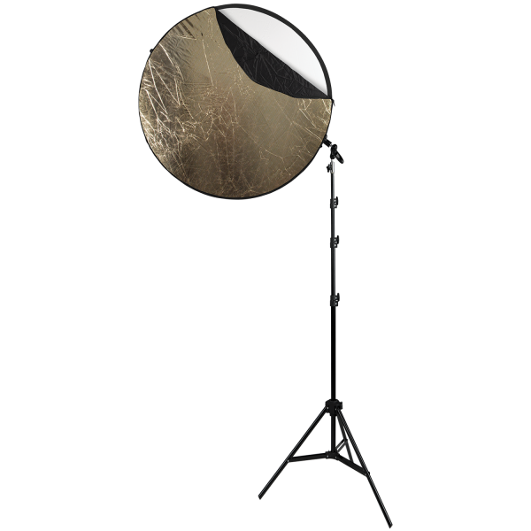"Collapsible 5-in-1 Reflector Kit with Sunlight Surface (40"")"