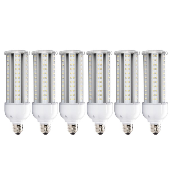 Daylight LED Corn Bulbs (23-watt, 6-pack)