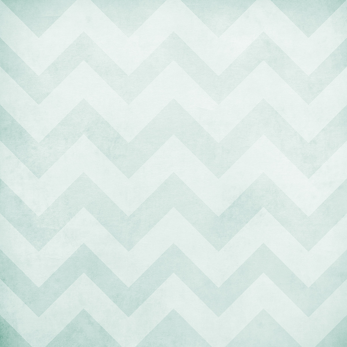 Washed Chevron Art Canvas Backdrop (3.5' x 3.5') - Light Turquoise