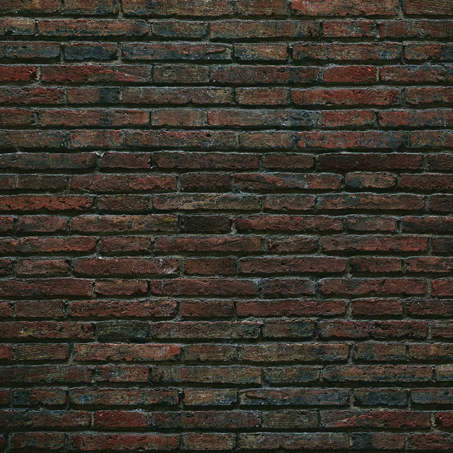 Grungy Brick Wall Matte Vinyl Backdrop (3.5' x 3.5') - Multi-Color
