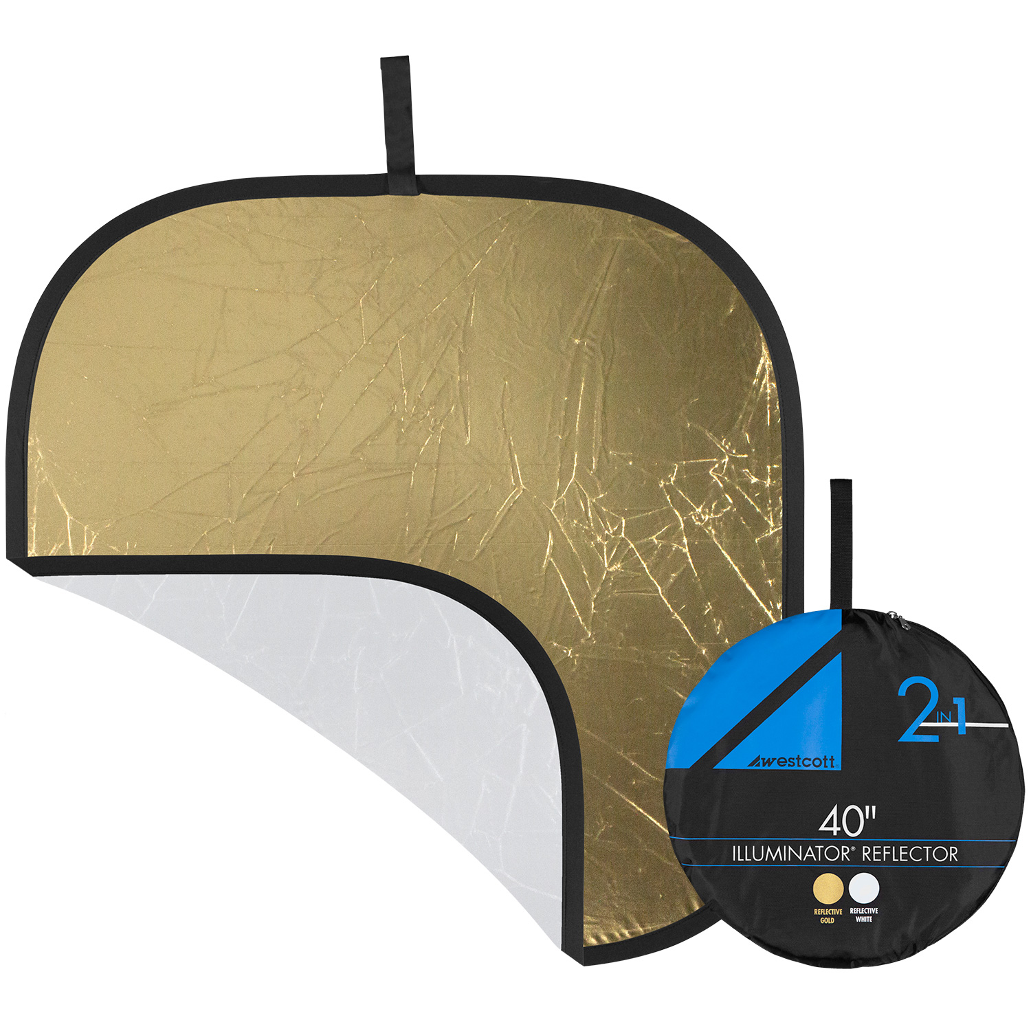 Illuminator Collapsible 2-in-1 Gold/White Bounce Reflector (42-in.)