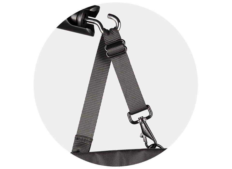 Light stand weight bag for photography and video with durable fabric straps