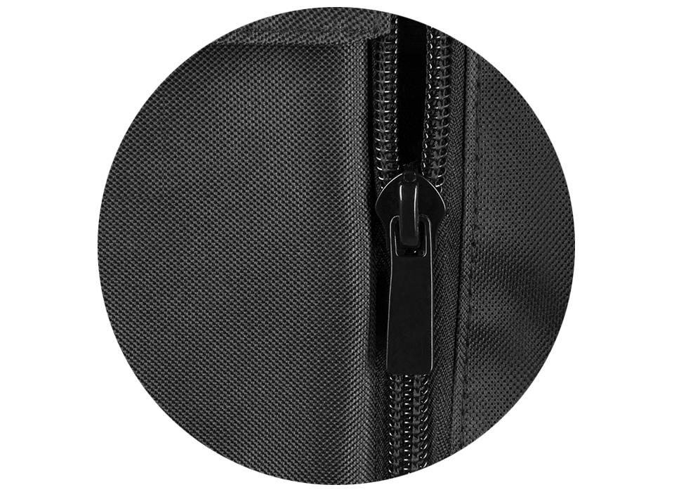 Weight bags for photography and filmmaking equipment connected together with full-length zipper