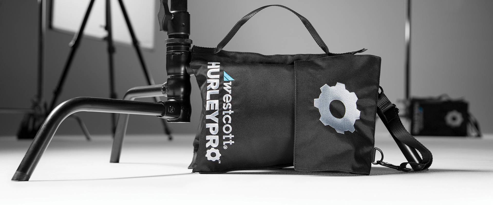 Refillable water weight bag for photography and filmmaking with removable water reservoir