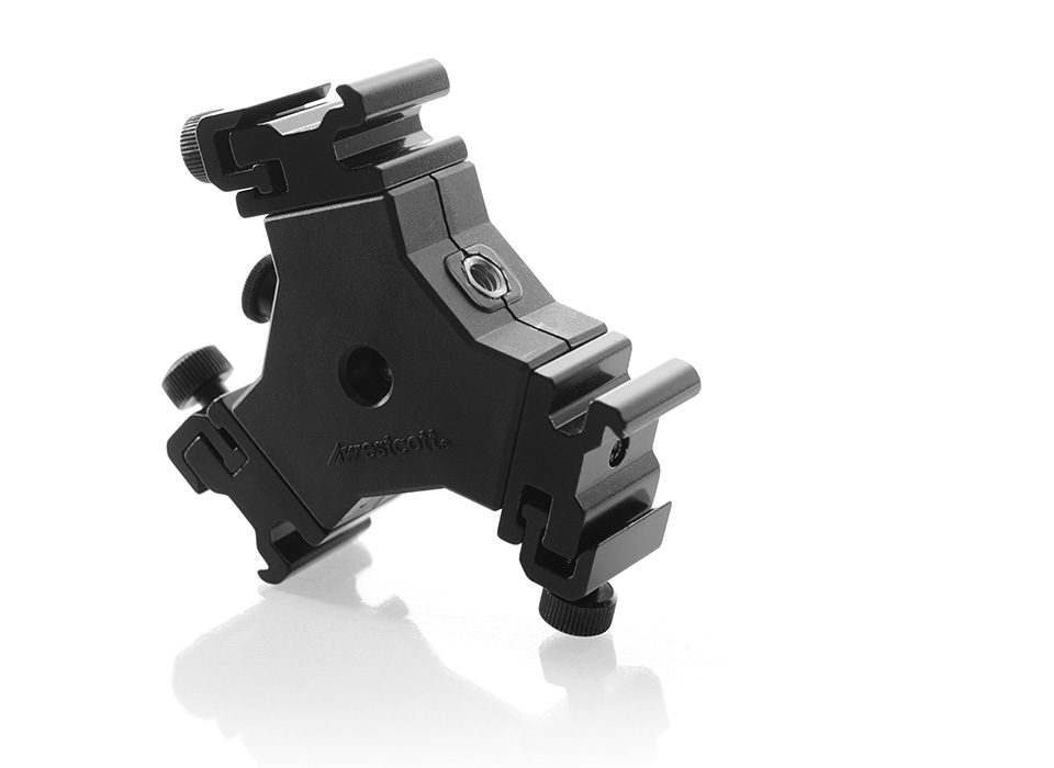 Triple Threat speedlight mounting bracket