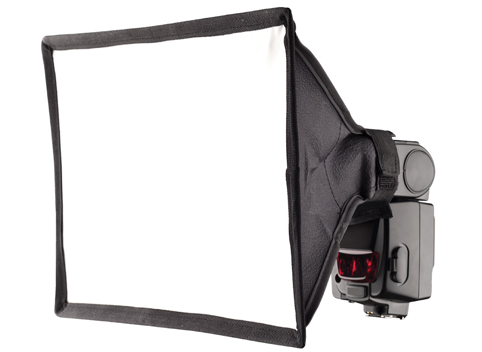 Rectangular camera speedlite flash light modifier