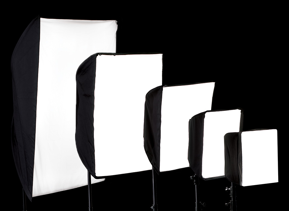 Square softboxes