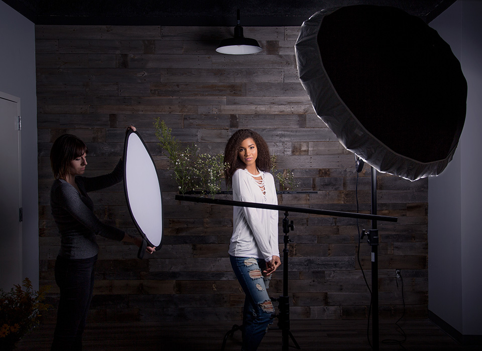 Diffusion Fabric Makes Lighting Soft for Portrait Photography