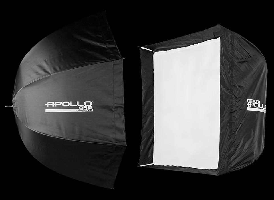 Apollo Duo Kit with collapsible octabox softbox and square softbox