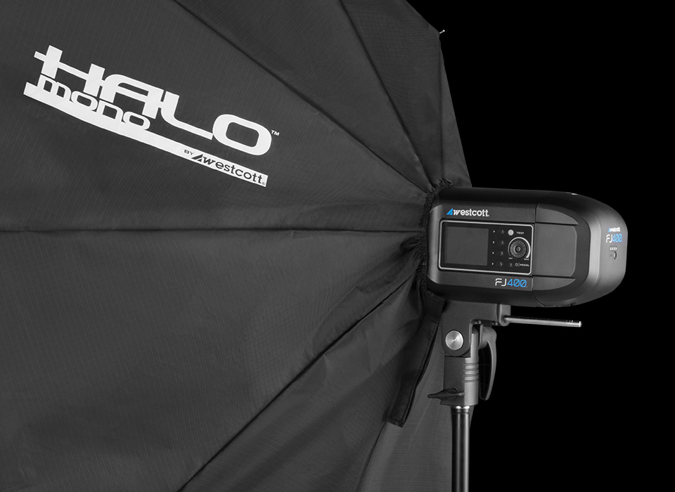 Halo softbox with Strobelite monolight
