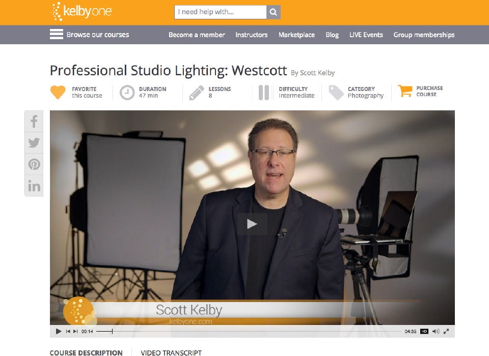 KelbyOne Training Website