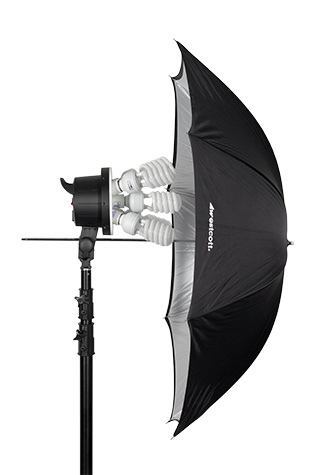 Umbrella with D5 Continuous Fluorescent Light