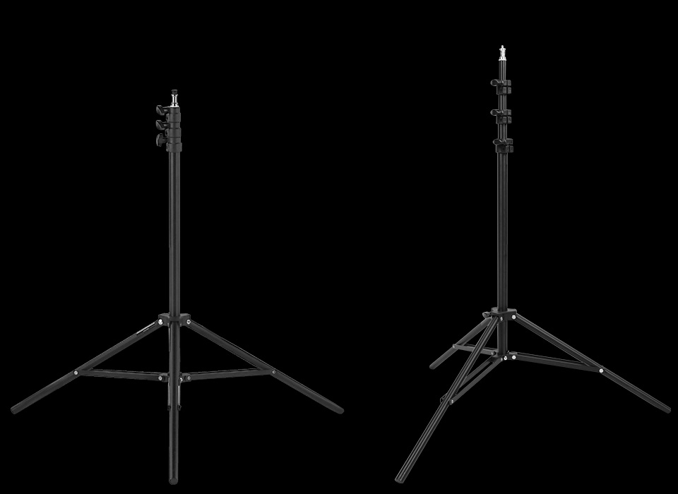 Black aluminum 8-foot light stand