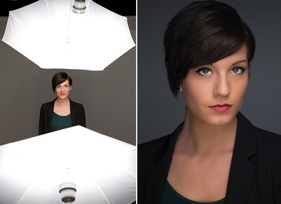 Female portrait lighting photo using Edison-Base Daylight LED Bulb