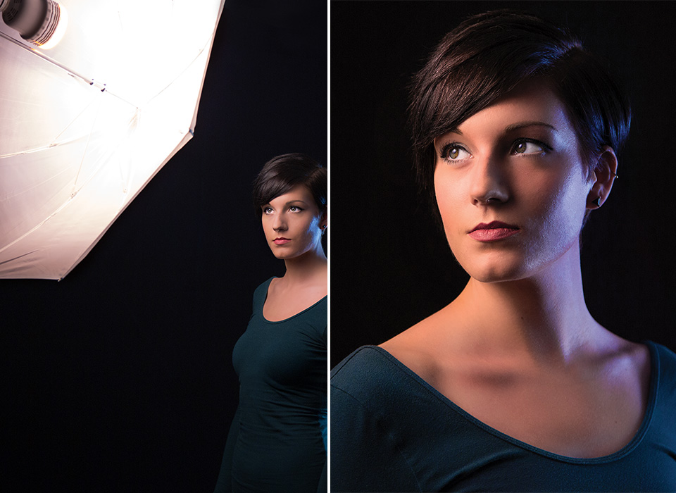 Female portrait lighting photo using Edison-Base LED Bulb with Tungsten Cap