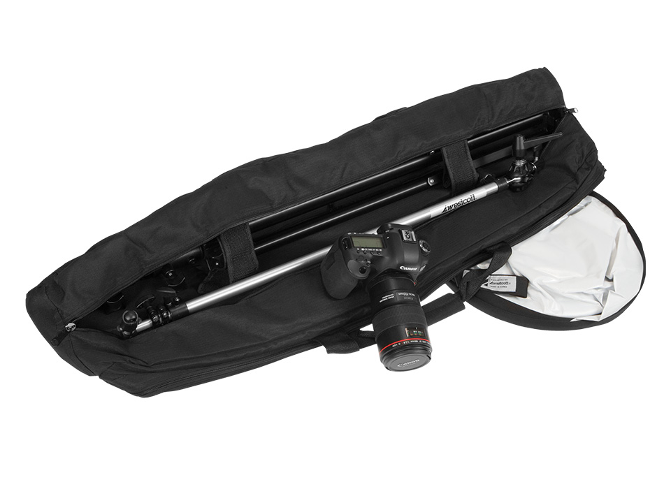 Illuminator Reflector Arm collapsed inside carry case