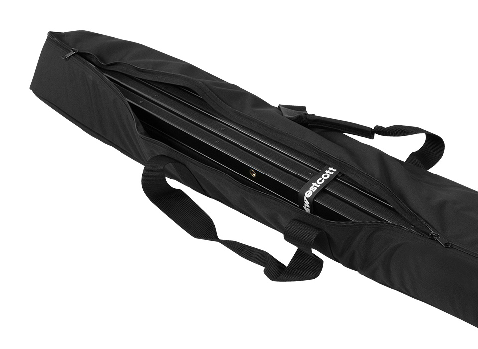 Scrim Jim Carry Case filled with frames and fabrics