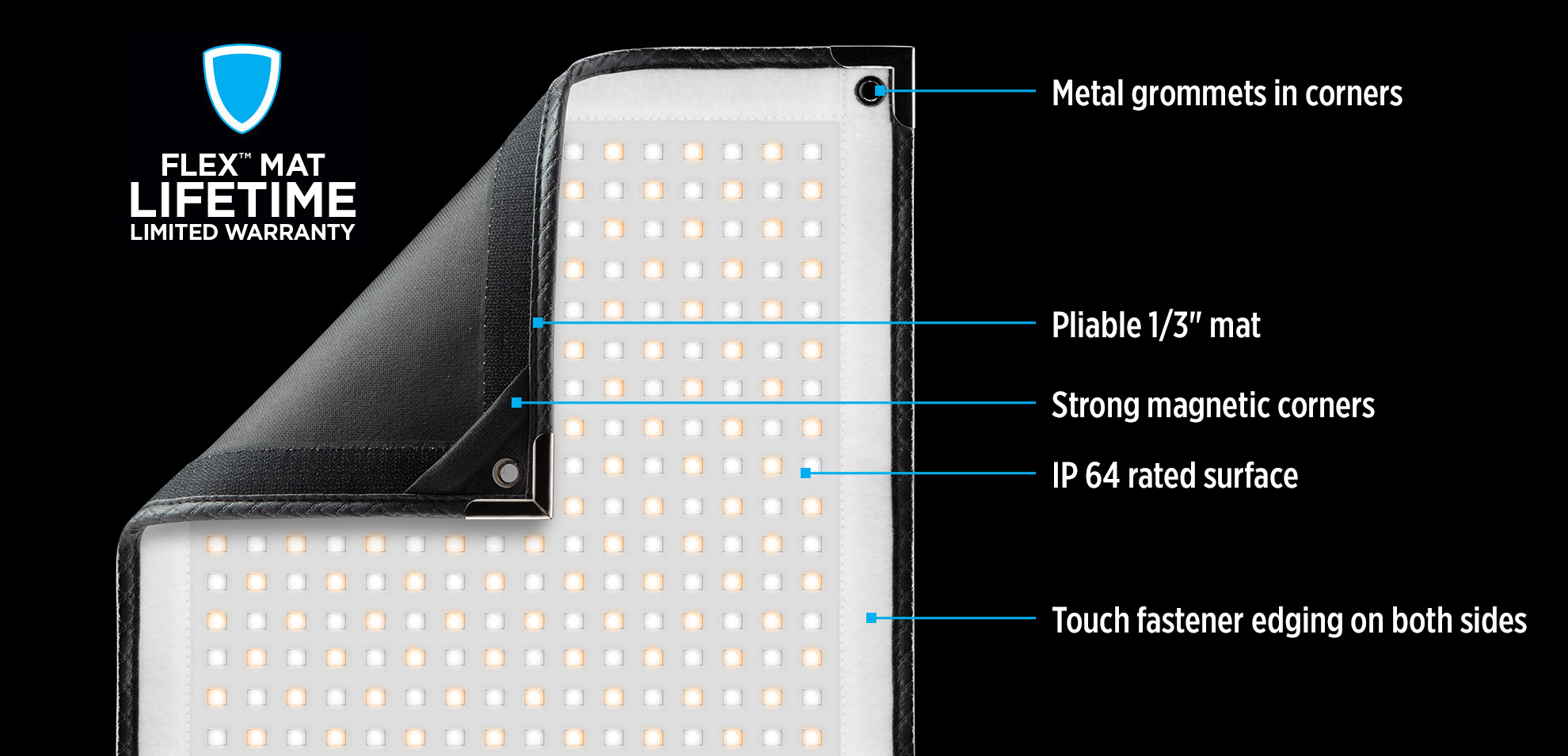 Flex Cine LED Mat Features for Filmmakers