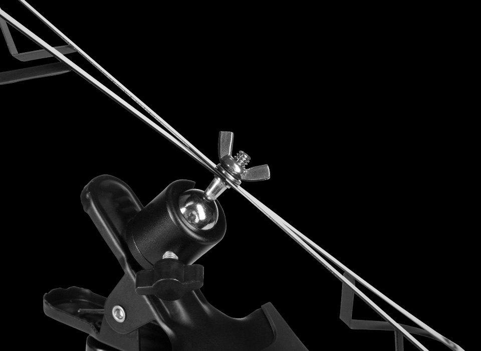 Flex with X-Bracket mounted at an angle tilted using ball head