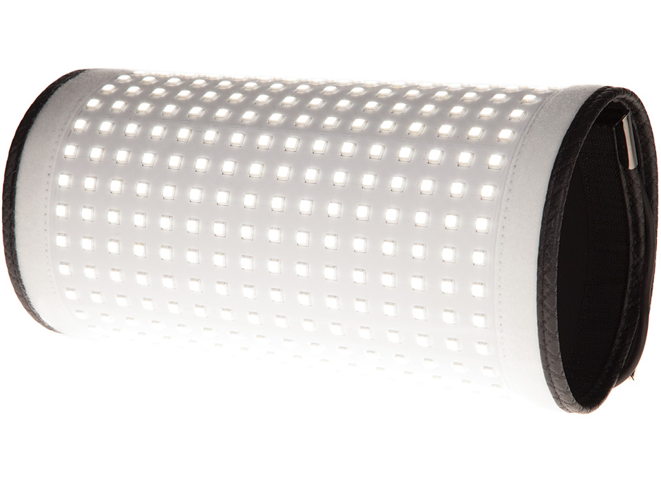 Rolled flexible LED mat light output spread