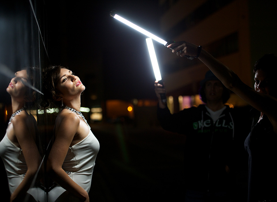 Ice Light handheld LED wand for photography and video