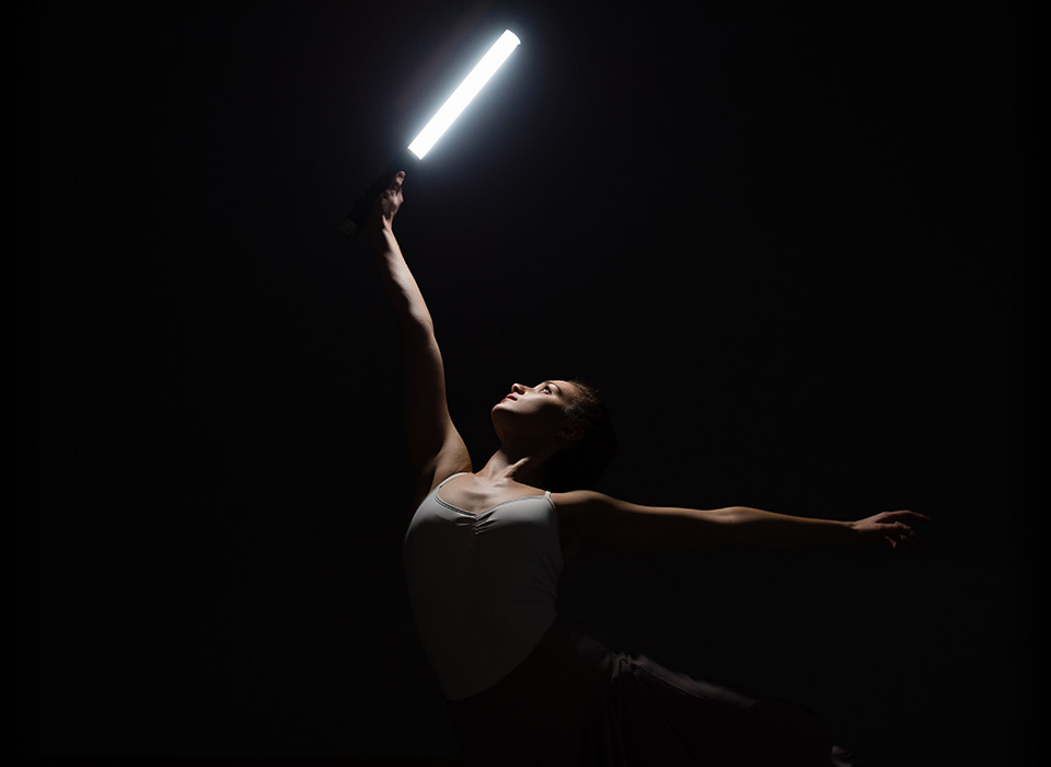 Ballet dancer holding Ice Light 2 LED